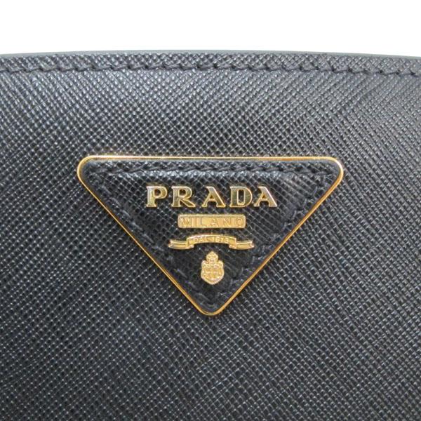 Prada(프라다) 1BA874 NERO 블랙 사피아노 럭스 금장로고 토트백 + 숄더스트랩 2WAY [대구반월당본점] 이미지4 - 고이비토 중고명품