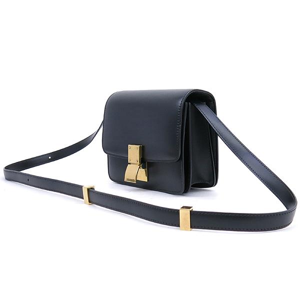 Celine(셀린느) 블랙 컬러 레더 미니 클래식 박스 숄더백 [강남본점] 이미지2 - 고이비토 중고명품