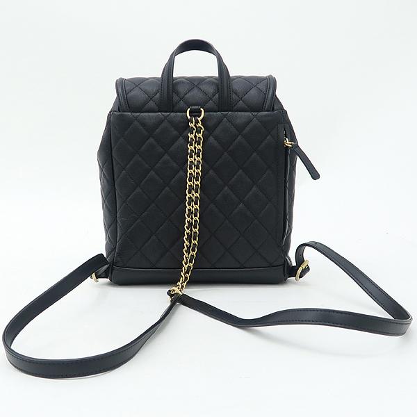 Chanel(샤넬) A57090 블랙 캐비어 스킨 COCO로고 Filigree(필리그리) 퀼팅 백팩 [강남본점] 이미지4 - 고이비토 중고명품