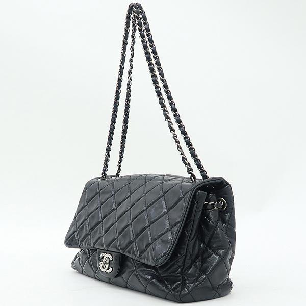 Chanel(샤넬) 블랙 빈티지 크렉 레더 COCO 로고 장식 체인 숄더백 [강남본점] 이미지3 - 고이비토 중고명품