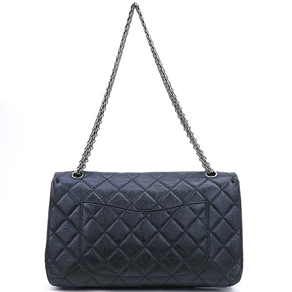 Chanel(샤넬) A37590 블랙 컬러 빈티지 2.55 L사이즈 은장 체인 플랩 숄더백 [강남본점] 이미지3 - 고이비토 중고명품