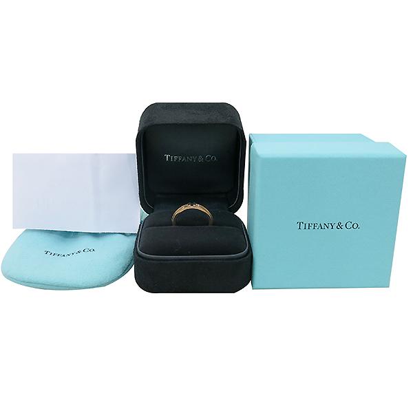 Tiffany(티파니) 18K 핑크 골드 T TWO 내로우 반지 - 14호 [부산센텀본점]