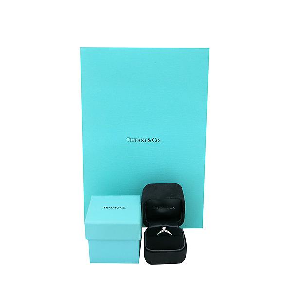 Tiffany(티파니) 60460744 PT950 플래티늄 골드 티파니 셋팅 0.2CT 1포인트 다이아 웨딩밴드 반지 - 7호 [부산센텀본점]
