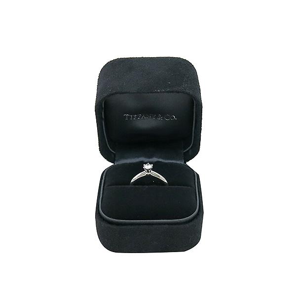 Tiffany(티파니) 60460744 PT950 플래티늄 골드 티파니 셋팅 0.2CT 1포인트 다이아 웨딩밴드 반지 - 7호 [부산센텀본점] 이미지2 - 고이비토 중고명품