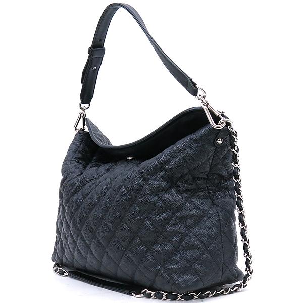 Chanel(샤넬) 블랙 캐비어스킨 은장 COCO 로고 체인 2WAY [강남본점] 이미지3 - 고이비토 중고명품