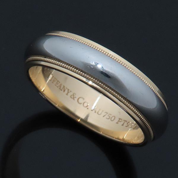 Tiffany(티파니) PT950 (플래티늄) + 18K 옐로우 골드 MILGRAIN (밀그레인) 6MM 반지 - 22호 [인천점] 이미지2 - 고이비토 중고명품