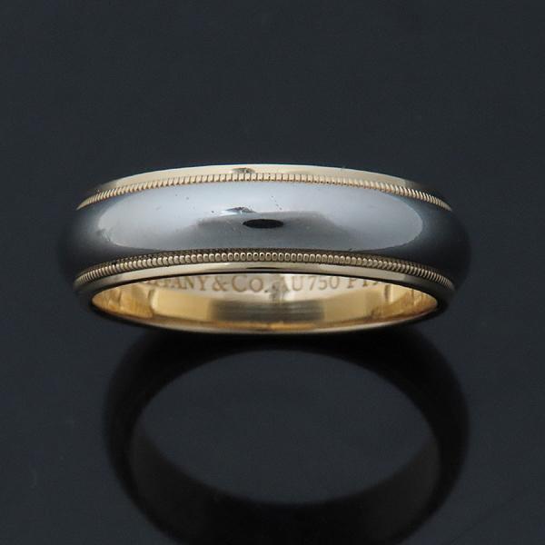 Tiffany(티파니) PT950 (플래티늄) + 18K 옐로우 골드 MILGRAIN (밀그레인) 6MM 반지 - 22호 [인천점] 이미지4 - 고이비토 중고명품