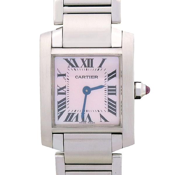 Cartier(까르띠에) W51028Q3 탱크 핑크 자개판 S 사이즈 스틸 쿼츠 여성용 시계 [강남본점]