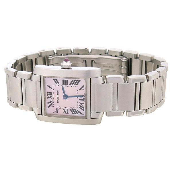 Cartier(까르띠에) W51028Q3 탱크 핑크 자개판 S 사이즈 스틸 쿼츠 여성용 시계 [강남본점] 이미지2 - 고이비토 중고명품