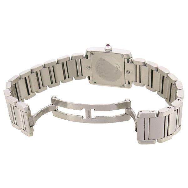 Cartier(까르띠에) W51028Q3 탱크 핑크 자개판 S 사이즈 스틸 쿼츠 여성용 시계 [강남본점] 이미지3 - 고이비토 중고명품