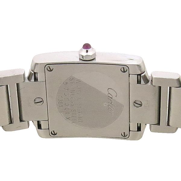 Cartier(까르띠에) W51028Q3 탱크 핑크 자개판 S 사이즈 스틸 쿼츠 여성용 시계 [강남본점] 이미지4 - 고이비토 중고명품