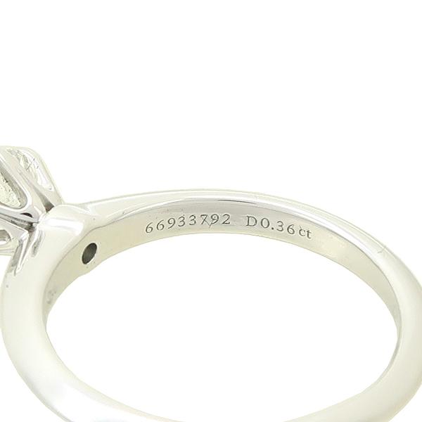 Tiffany(티파니) PT950(플래티늄) 0.36캐럿 다이아 VVS1 H컬러 웨딩 반지-7호 [강남본점] 이미지4 - 고이비토 중고명품