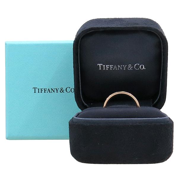 Tiffany(티파니) 18K 핑크 골드 Tiffany&Co 라운드 로고 브릴리언트 3포인트 다이아 3MM 반지 [강남본점]
