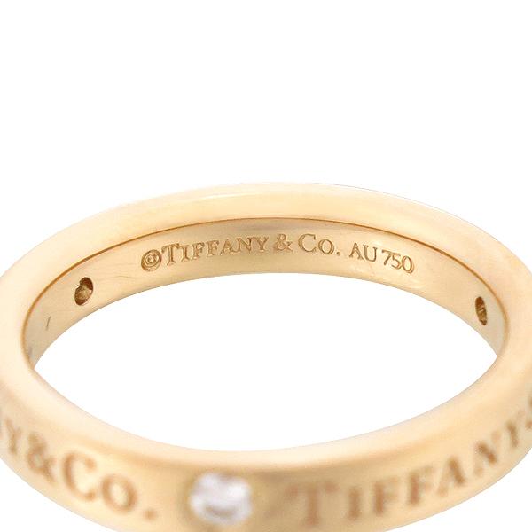 Tiffany(티파니) 18K 핑크 골드 Tiffany&Co 라운드 로고 브릴리언트 3포인트 다이아 3MM 반지 [강남본점] 이미지3 - 고이비토 중고명품