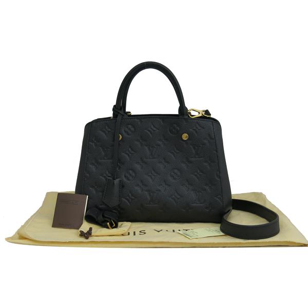 Louis Vuitton(루이비통) M41053 모노그램 앙프렝뜨 Noir(느와르) 컬러 몽테뉴 BB 미니 토트백 + 스트랩 2WAY [동대문점]