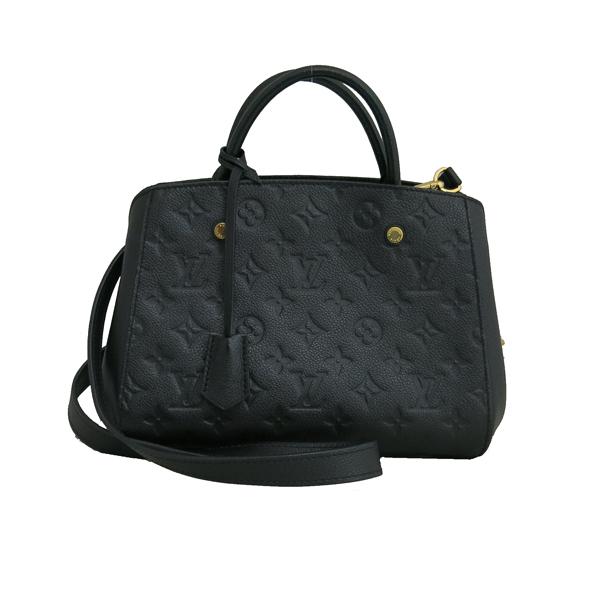 Louis Vuitton(루이비통) M41053 모노그램 앙프렝뜨 Noir(느와르) 컬러 몽테뉴 BB 미니 토트백 + 스트랩 2WAY [동대문점] 이미지2 - 고이비토 중고명품