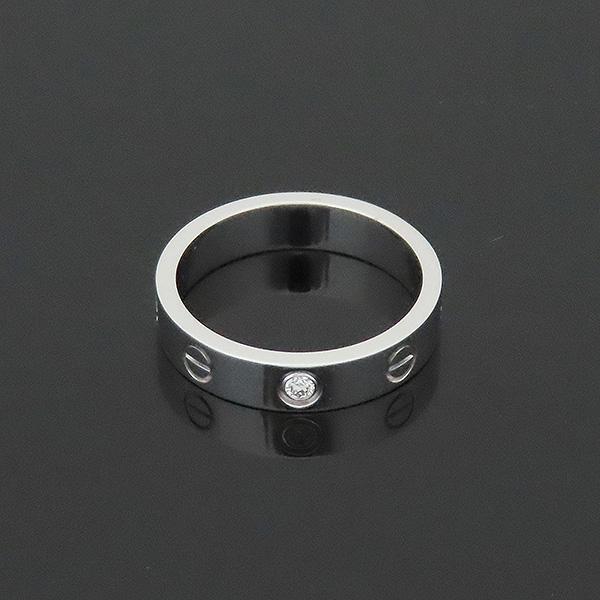 Cartier(까르띠에) B4050550 18K 화이트골드 미니 러브링 1포인트 다이아 반지 - 10호 [부산서면롯데점] 이미지2 - 고이비토 중고명품