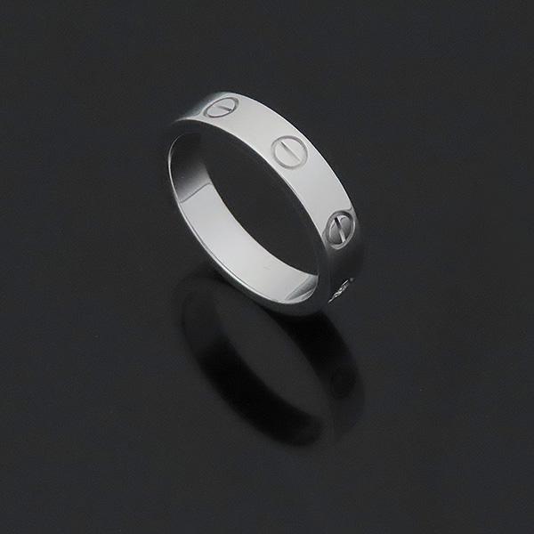 Cartier(까르띠에) B4050550 18K 화이트골드 미니 러브링 1포인트 다이아 반지 - 10호 [부산서면롯데점] 이미지4 - 고이비토 중고명품