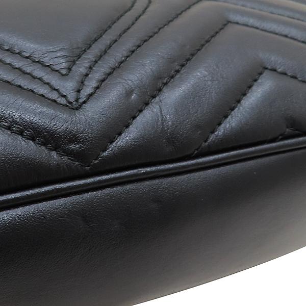Gucci(구찌) 443497 블랙 레더 GG 마몬트 스몰 마틀라쎄 퀼팅 금장 체인 숄더백 [인천점] 이미지5 - 고이비토 중고명품