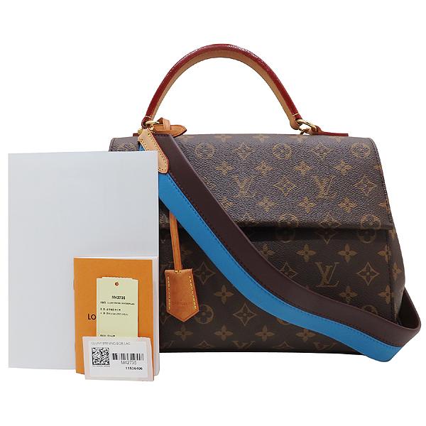 Louis Vuitton(루이비통) M42735 모노그램 캔버스 클루니 MM 블루 글래셜 토트백+숄더 스트랩 [인천점]