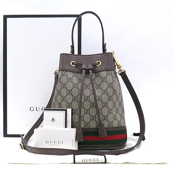 Gucci(구찌) 550621 GG패턴 PVC 오피디아 스몰 버킷백 [강남본점]