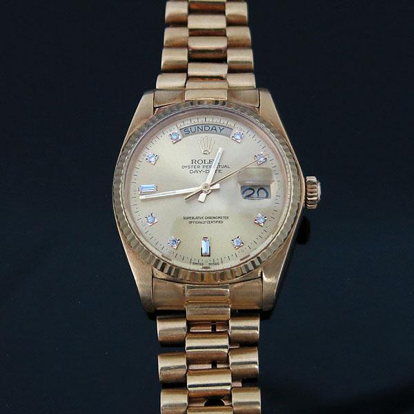 Rolex(로렉스) 18038 18K(750) 금통 빈티지 에프터 다이아 DAY-DATE(데이데이트) 남성용 시계 [대구동성로점] 이미지2 - 고이비토 중고명품