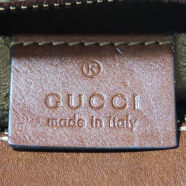 Gucci(구찌) 409535 PVC GG 로고 수프림 브라운 레더 트리밍 금장 체인 미니 크로스백 [대전본점] 이미지5 - 고이비토 중고명품
