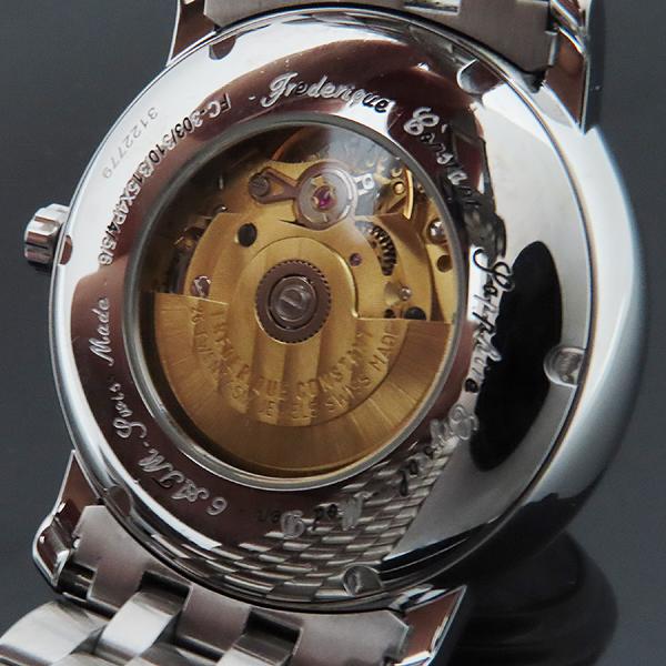 FREDERIQUE CONSTANT (프레드릭 콘스탄트) FC-303 화이트 다이얼 데이트 로마 인덱스 시스루백 스틸 브레이슬릿 오토매틱 남성용 시계 [인천점] 이미지5 - 고이비토 중고명품