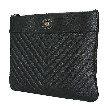 Chanel(샤넬) A80992B0007694305 샴페인골드 마드모아젤 캐비어 쉐브론 뉴미듐 클러치[광주롯데점] 이미지2 - 고이비토 중고명품