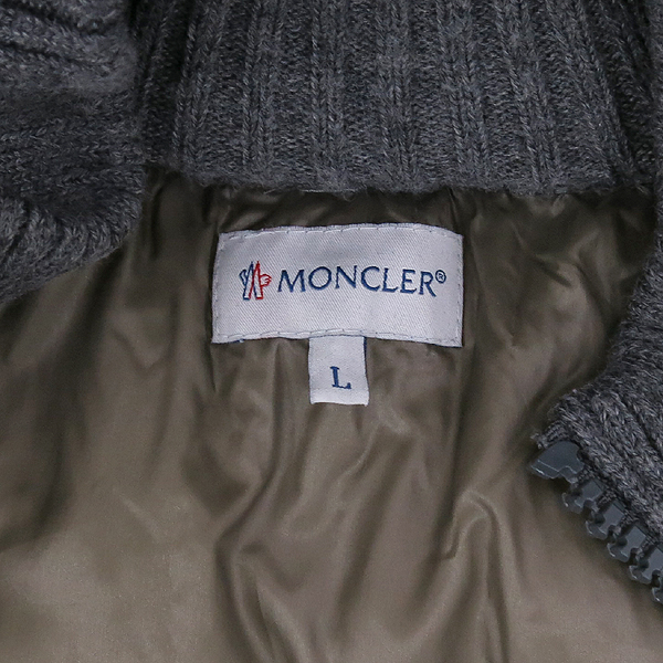 MONCLER(몽클레어) MAGLIONE TRICOT 패딩 니트 혼방 남성 후드 집업 가디건 [강남본점] 이미지4 - 고이비토 중고명품
