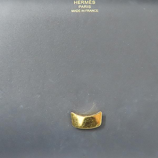 Hermes(에르메스) 금장 블랙 레더 체르체미디(SOMBERO 89) 클러치백 [부산서면롯데점] 이미지6 - 고이비토 중고명품