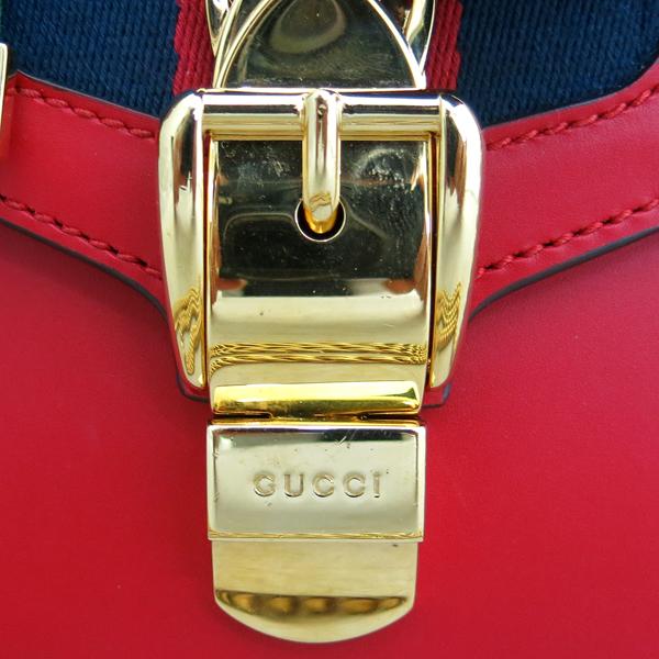 Gucci(구찌) 431666 레드 레더 미니 사이즈 Sylvie(실비) 체인 숄더겸 크로스백 [동대문점] 이미지4 - 고이비토 중고명품