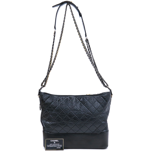 Chanel(샤넬) A93825 블랙 빈티지 카프스킨 가브리엘 호보 맥시 사이즈 체인 더블 C 숄더 겸 크로스백 [강남본점]