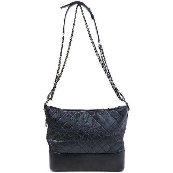 Chanel(샤넬) A93825 블랙 빈티지 카프스킨 가브리엘 호보 맥시 사이즈 체인 더블 C 숄더 겸 크로스백 [강남본점] 이미지2 - 고이비토 중고명품