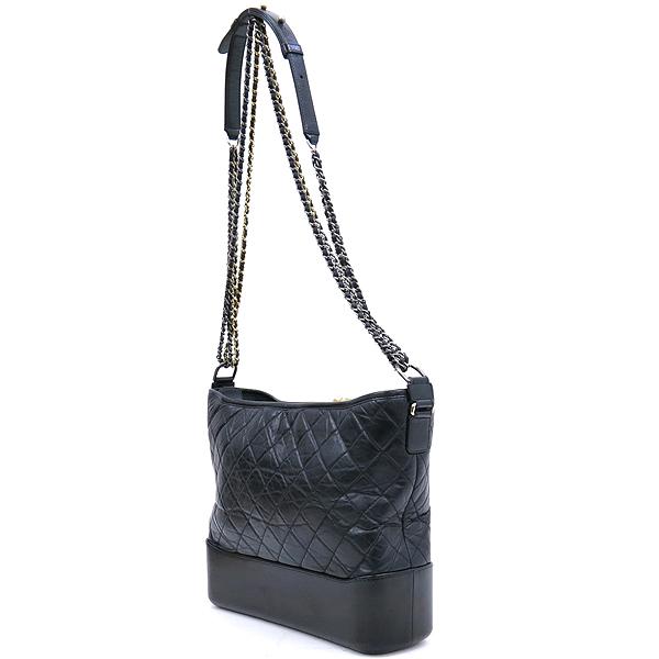 Chanel(샤넬) A93825 블랙 빈티지 카프스킨 가브리엘 호보 맥시 사이즈 체인 더블 C 숄더 겸 크로스백 [강남본점] 이미지3 - 고이비토 중고명품