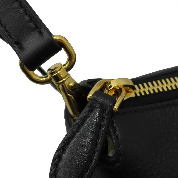 Prada(프라다) 1BA063 VIT.DAINO (비텔로다이노) NERO 블랙 레더 금장 로고 토트백 + 숄더스트랩 2WAY [대구황금점] 이미지5 - 고이비토 중고명품