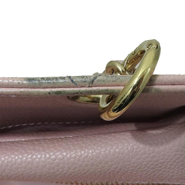 Chanel(샤넬) A18004 캐비어스킨 핑크컬러 퀼팅 마틀라쎄 COCO로고 스티치 정방 메탈 금장 체인 토트백 [부산서면롯데점] 이미지3 - 고이비토 중고명품