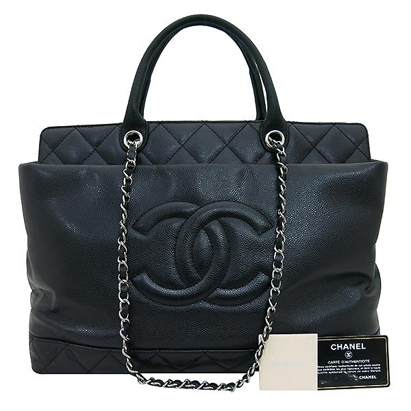 Chanel(샤넬) A66814 타임리스 CC 포르토벨로 캐비어 블랙 퀼팅 레더 은장 체인 2WAY [부산센텀본점]