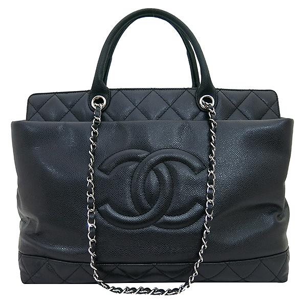 Chanel(샤넬) A66814 타임리스 CC 포르토벨로 캐비어 블랙 퀼팅 레더 은장 체인 2WAY [부산센텀본점] 이미지2 - 고이비토 중고명품