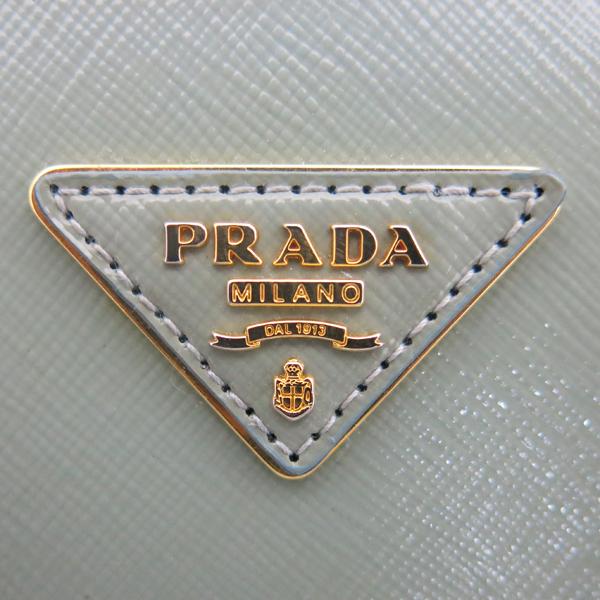 Prada(프라다) BN2316 금장 라이트 그린 페이던트 사피아노 럭스 더블집업 미니 토트백 + 숄더스트랩 [동대문점] 이미지7 - 고이비토 중고명품
