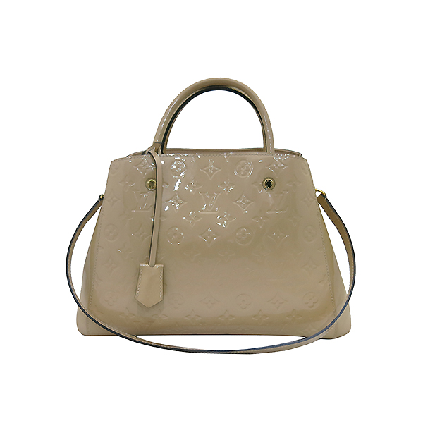 Louis Vuitton(루이비통) M50169 모노그램 베르니 베이지 몽테뉴 MM 토트백 + 숄더스트랩 2WAY 이미지2 - 고이비토 중고명품