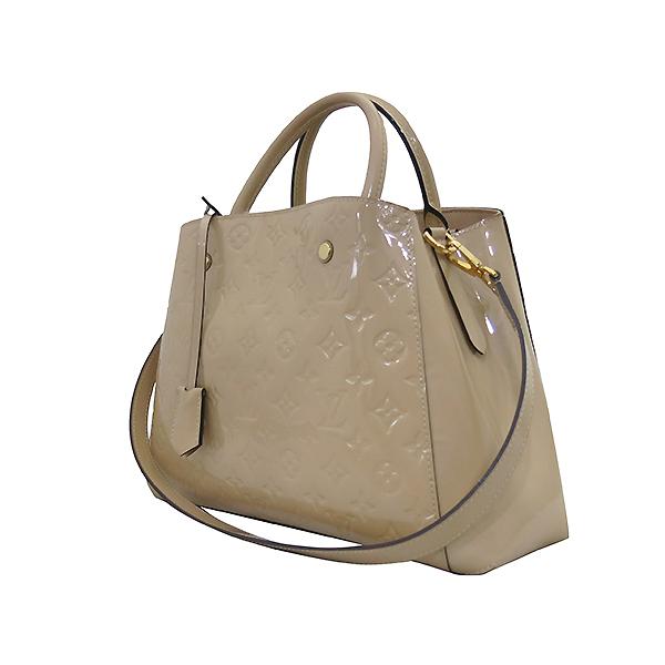 Louis Vuitton(루이비통) M50169 모노그램 베르니 베이지 몽테뉴 MM 토트백 + 숄더스트랩 2WAY 이미지3 - 고이비토 중고명품
