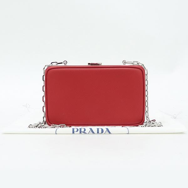Prada(프라다) 레드 사피아노 미니 스퀘어 체인 크로스백 [잠실점]