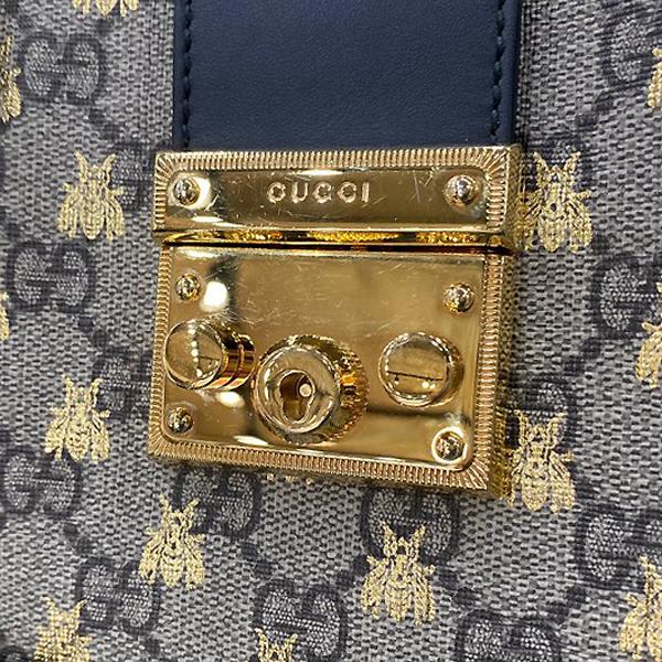 Gucci(구찌) 498156 비 프린트 트리밍 GG 수프림 캔버스 스트럭처드 패들락 숄더백 [대구반월당본점] 이미지4 - 고이비토 중고명품