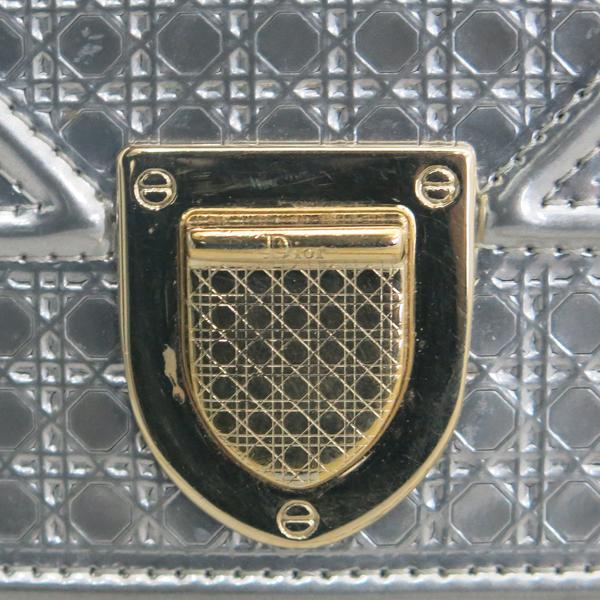 Dior(크리스챤디올) 메탈릭 실버 컬러 마이크로 까나쥬 패턴 디오라마 WOC 클러치백 겸 크로스백 [동대문점] 이미지3 - 고이비토 중고명품