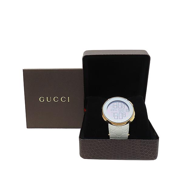 Gucci(구찌) YA114216 그래미 어워즈 스페셜에디션 금장 디지털 화이트 러버밴드 시계 [부산서면롯데점]