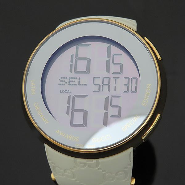 Gucci(구찌) YA114216 그래미 어워즈 스페셜에디션 금장 디지털 화이트 러버밴드 시계 [부산서면롯데점] 이미지2 - 고이비토 중고명품