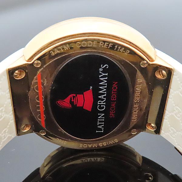 Gucci(구찌) YA114216 그래미 어워즈 스페셜에디션 금장 디지털 화이트 러버밴드 시계 [부산서면롯데점] 이미지5 - 고이비토 중고명품