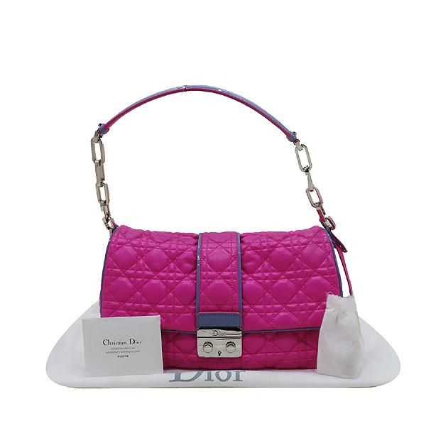 Dior(크리스챤디올) M9803PABL 퍼플 레더 디올 뉴 록 은장 체인 숄더백 [인천점]
