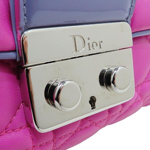 Dior(크리스챤디올) M9803PABL 퍼플 레더 디올 뉴 록 은장 체인 숄더백 [인천점] 이미지4 - 고이비토 중고명품